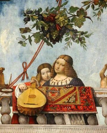 Plafond de la salle du trésor du palais Costabili de Ferrare, décoré entre 1503 et 1506 par Benvenuto Tisi, dit Il Garofalo (2)