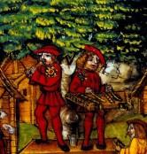 004. Luzener Schilling Folio 259r - Swiss (Lucerne)iluminated Manuscript - 1513 (2)