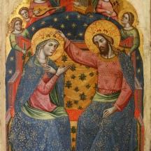 Catarino incoronazione della Vergine e angeli - Documentato a Venezia dal 1362 al 1390