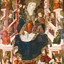 Marie, Reine des Cieux, panneau du retable de l'église Sainte-Marie-Majeure d'Albalate del Arzobispo (1437-1439), conservé au musée de Saragosse